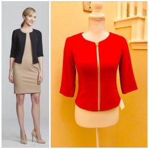 Nora Gardner Juliet Jacket In Red